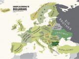Map Of Bulgaria In Europe Europe According to Bulgaria Print Euro asian Maps Funny