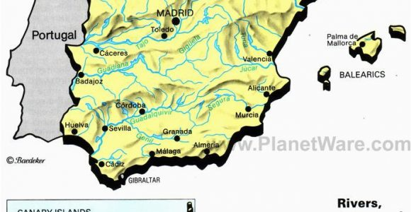 Map Of Cadiz Spain Rivers Lakes and Resevoirs In Spain Map 2013 General