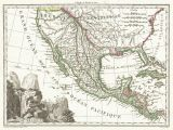 Map Of California and Mexico Border File 1810 Tardieu Map Of Mexico Texas and California Geographicus