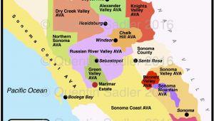 Map Of California Avas California Map Of Cities California Wine Appellation Map
