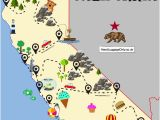 Map Of California Citys the Ultimate Road Trip Map Of Places to Visit In California Travel