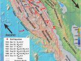 Map Of California Faults Map Of California Usa Elegant California Coast Map Beautiful