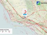 Map Of California Faults Map southern United States Refrence Traffic Map southern California