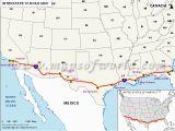Map Of California Highway 1 Interstate 10 I 10 Map Santa Monica California to Jacksonville