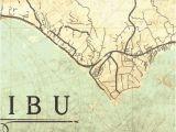 Map Of California Malibu Malibu Ca Canvas Print California Vintage Map Malibu Ca California