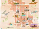 Map Of California Showing Palm Springs Map Of the Best Los Angeles Instagram Spots Palm Springs In 2019
