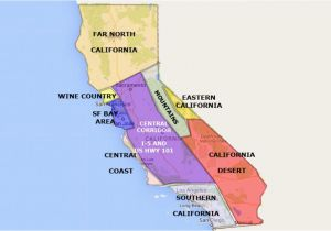 Map Of California Sierra Nevada Mountains Best California State by area and Regions Map