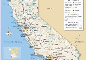 Map Of California with Major Cities 10 Unique Printable Map Of California with Major Cities Printable Map