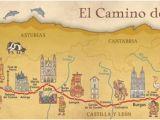 Map Of Camino Frances Camino Frances De Santiago Pilgrim souvenir Poster Map In