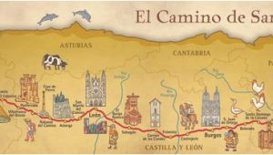Map Of Camino Frances Camino Frances De Santiago Pilgrim souvenir Poster Map In