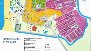Map Of Campsites In France Camping Marina D Erba Rossa France Vacansoleil Uk