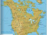 Map Of Canada and Alaska Border the Map Shows the States Of north America Canada Usa and