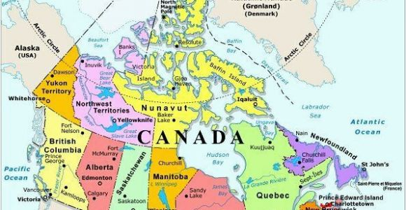 Map Of Canada and Capital Cities Map Of Canada with Capital Cities and Bodies Of Water thats Easy to