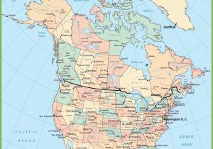 Map Of Canada and Usa with Provinces and States Usa and Canada Map