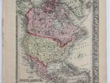 Map Of Canada Colored Details About 1860 Mitchell S Huge Hand Tinted Colored Map Of north