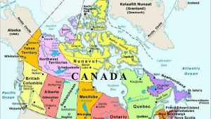 Map Of Canada Water Bodies Map Of Canada with Capital Cities and Bodies Of Water thats Easy to