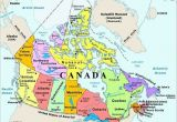 Map Of Canada with Capital Cities and Provinces Map Of Canada with Capital Cities and Bodies Of Water thats Easy to