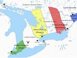 Map Of Canada with Great Lakes Upper Canada Wikipedia