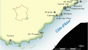 Map Of Cannes and Nice France French Riviera Map and Guide