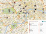 Map Of Central England Map Of London with Must See Sights and attractions Free Printable