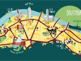 Map Of Central England southbank Map Illustration Kerryhyndman Co Uk Map Travel