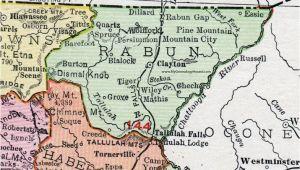 Map Of Clayton Georgia Rabun County Georgia 1911 Map Rand Mcnally Clayton Mountain