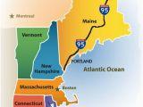 Map Of Coastal New England Greater Portland Maine Cvb New England Map New England