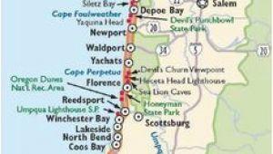 Map Of Coastal oregon Washington and oregon Coast Map Travel Places I D Love to Go