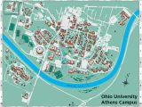 Map Of Colleges In Ohio Ohio University S athens Campus Map