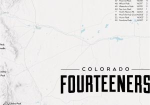 Map Of Colorado 14ers Amazon Com Best Maps Ever 58 Colorado 14ers Map Framed 18×24 Poster