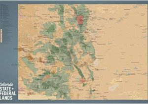Map Of Colorado 14ers Amazon Com Best Maps Ever Colorado State Parks Federal Lands Map