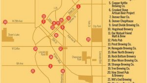 Map Of Colorado Breweries the Ultimate Guide to Craft Brewing In Denver Denver Beers