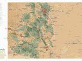 Map Of Colorado Fourteeners Amazon Com Best Maps Ever Colorado State Parks Federal Lands Map