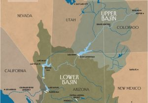 Map Of Colorado River System the Disappearing Colorado River the New Yorker