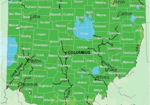 Map Of Columbus Ohio and Surrounding area Map Of Usda Hardiness Zones for Ohio