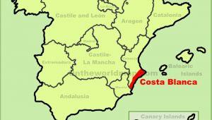 Map Of Costa Blanca Spain Costa Blanca Maps Spain Maps Of Costa Blanca