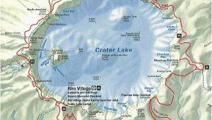 Map Of Crater Lake oregon Crater Lake oregon Map oregon Volcanoes Secretmuseum