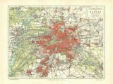 Map Of Cuenca Spain Vintage City Map Of Berlin and Environs 1920s by