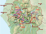 Map Of Cumbria England List Of Hill Passes Of the Lake District Wikipedia