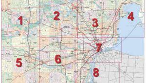 Map Of Detroit area Michigan Mdot Detroit Maps