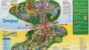 Map Of Disneyland and California Adventure Park Disneyland Park California Map Outline Map Disney California Fresh