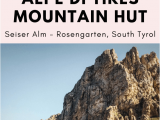 Map Of Dolomites Italy Hiking to Tierser Alpl Schutzhaus Alpe Di Tires In the Dolomites