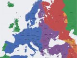 Map Of East and West Europe Europe Map Time Zones Utc Utc Wet Western European Time