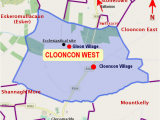Map Of East Ireland Clooncon West