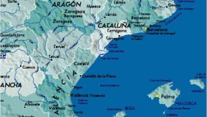 Map Of East Spain Detailed Map Of East Coast Of Spain Twitterleesclub