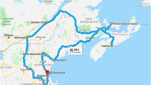 Map Of Eastern Canada and New England Indian Summer How to Enjoy New England and Eastern Canada