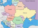 Map Of Eastern Europe and Middle East Maps Of Eastern European Countries
