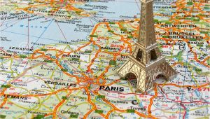 Map Of Eiffel tower Paris France Eiffel tower On Map Stock Image Image Of Monument attraction 4994663