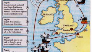 Map Of Elizabethan England Spanish Armada Map Blake Ancestors From Ireland Coat Of