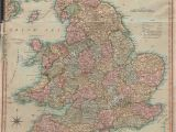 Map Of England and Wales Counties Antique Map Of England Stock Photos Antique Map Of England Stock